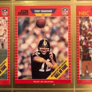 1989 NFL PRO SET TERRY BRADSHAW CARD #12 HOF NM